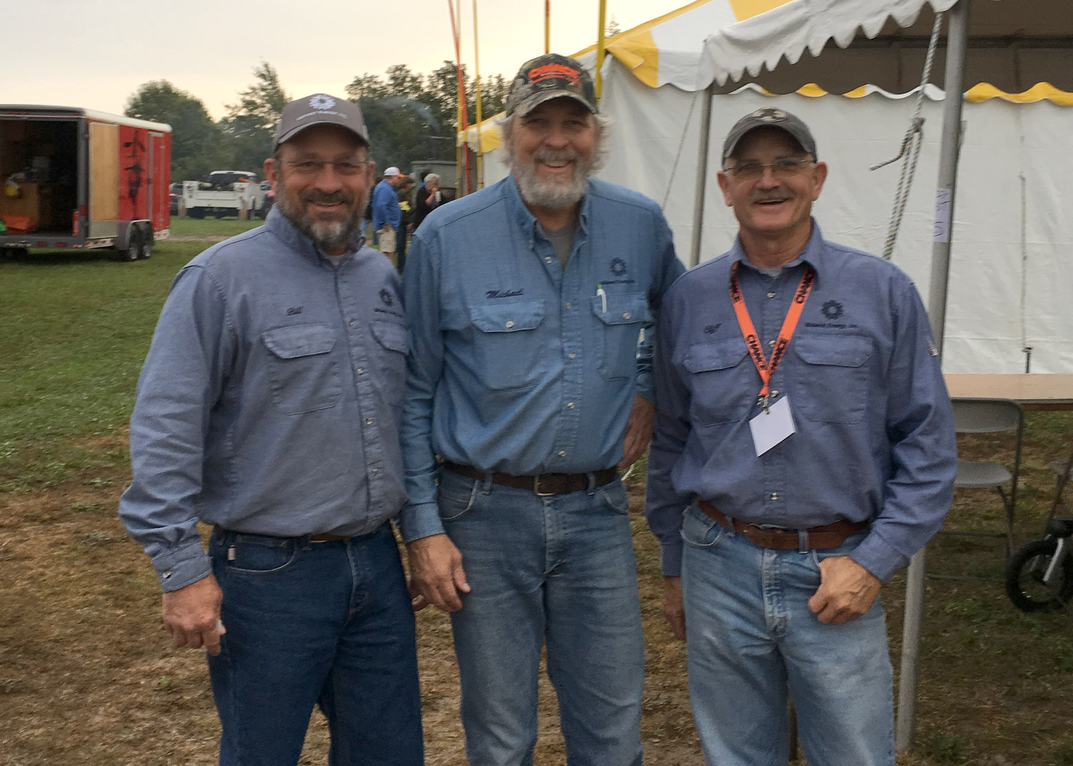 A photo of Midwest Energy's Senior Lineman's Rodeo Team, of Bill Nowlin, Line Foreman from WaKeeney, Mike Stremel, Training Manager at Hays, and Cliff Townsend, Journeyman Lineman at Kinsley, took 3rd in their division at the competition in Bonner Springs, Oct. 14.