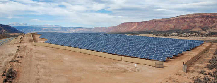 The 1MW community solar garden at Paradox Valley, Colo., is the same size as the one being built through a partnership by Midwest Energy and Clean Energy Collective in 2014.