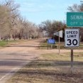 Friendly signs welcome visitors to the city of Seward, located roughly 18 miles south of Great Bend in Stafford County.  Voters in Seward opted to sell their electric system to Midwest Energy in a vote that was certified on Mar. 25.