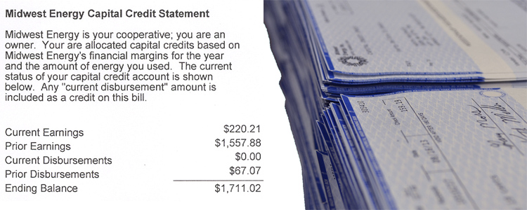 All customers will now receive capital credit statements as a bill message, instead of a separate mailed statement; some customers will receive payment via bill credit, while others and former members will receive paper checks.