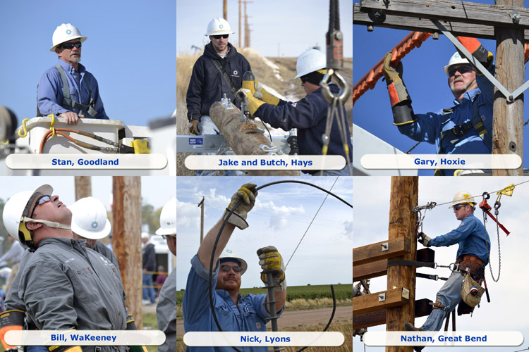Some of Midwest Energy's finest, keeping the power on for more than 42,000 Kansas customers along 11,000 miles of line.